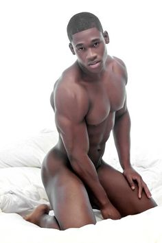 Naked young black man