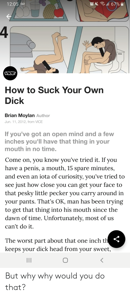 Learn how to suck your own dick