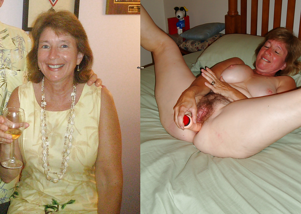 Mature clothed and unclothed