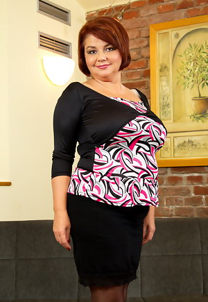Thick mature clothed fucked